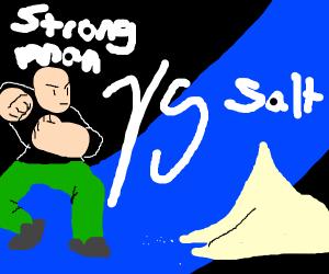 muscular man doesn't like salt