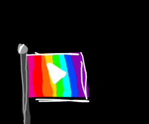 YouTube X Pride Flag