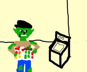 Goblin doing Laundry