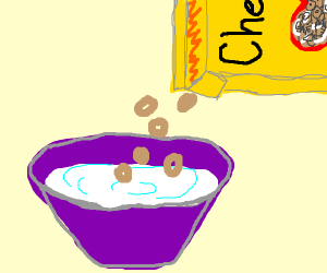 Milk before cereal!!! Dastardly.