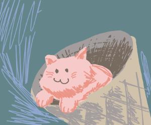 Adorable Cat Ice Cream cone