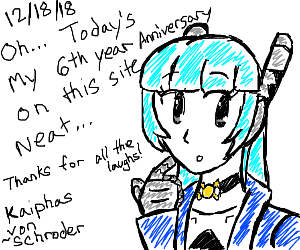 6th year anniversary on this site (congrats