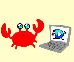 Crab playing Drawception