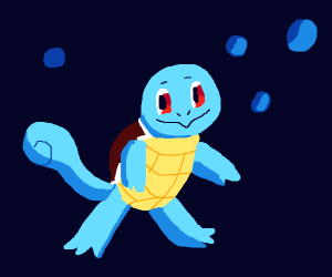 Squirtle Is Happy