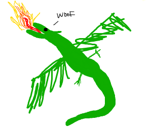 poorly drawn dragon