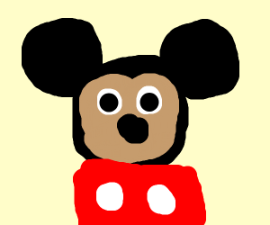 Minnie paints Mickey