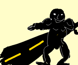 buff black guy crossing the road