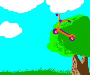 Scootaloo In A Tree Mlp Drawception