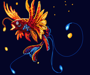 Phoenix-Anglerfish in space.