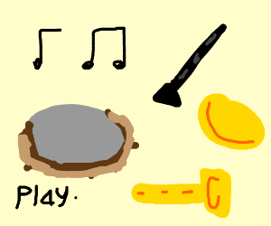 Instruments music notes and symbols
