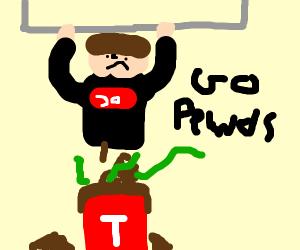 pewds pooping on T series