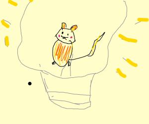 Raichu in the light bulb