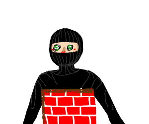 robber is cosplaying as a wall
