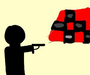 Shooting at checkers