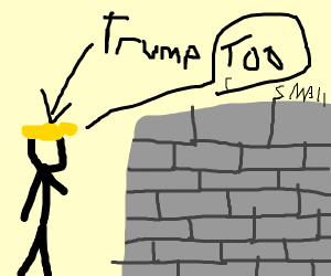 Trump has an affair with the wall