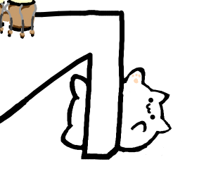 Bongo Cat fell off his desk