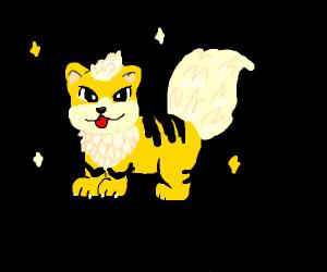 A pokemon? (Yellow dog)