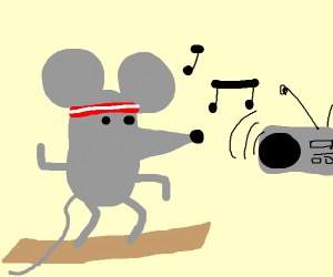 A mouse taking Zumba classes