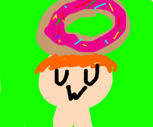 UwU boy with donut hat