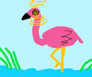 Flamingo uses his psychic powers