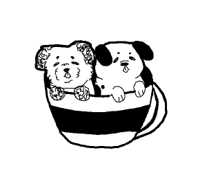 Puppies in a Tea Cup