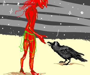 satan meets a raven