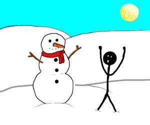Horray I made a snowman