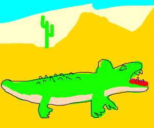Crocodile in the Desert