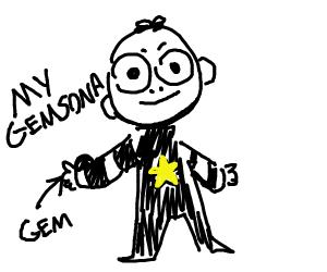 Steven univers fan gem Obsidian
