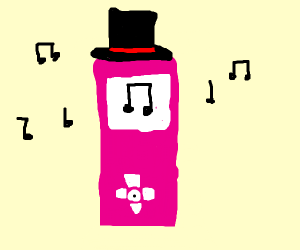 iPod wearing a Top Hat