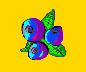 Pop art blueberry
