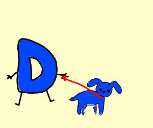 drawception walks blue doggy