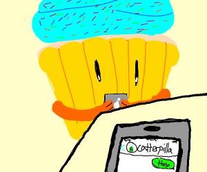Cupcake texts caterpillar