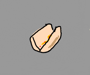 hot dog but with out the hot dog