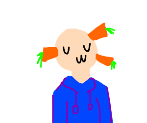 uwu man with carrots growing out of his face