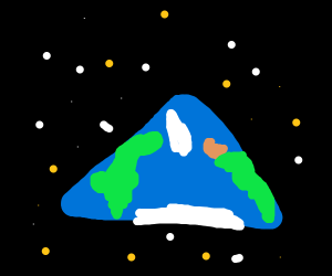 Earth is a triangle, sorry gamers
