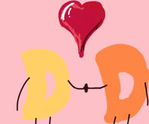 Drawception couple on Valentine's day
