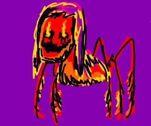 Demonic Creature with Blazing Eyes