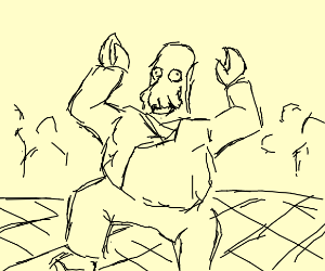 dr zoidberg killing it on the dance floor