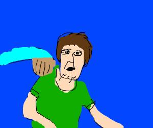 That meme where someone grabs shaggys back