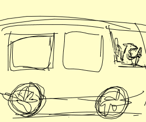 mouse driving a bus