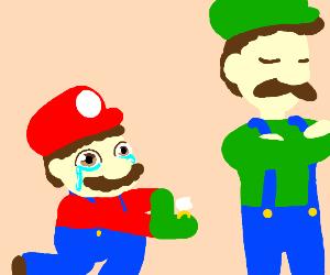 Luigi denies Mario's proposal
