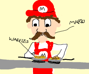 Mario cooking Waffles
