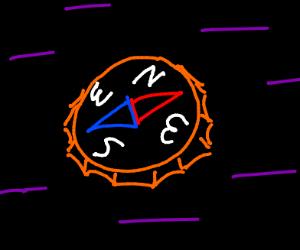 Bottle cap compass