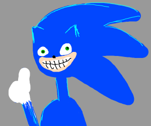 CGI sonic smiling (THESE TEETH MY GOD)