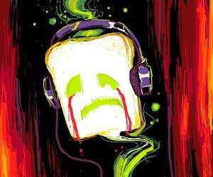 sad goast lisining to music