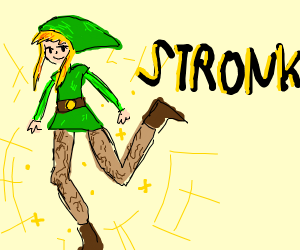 Link with amazing legs