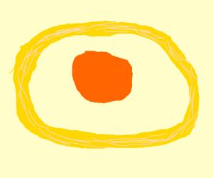 Large orange sphere around an onion ring
