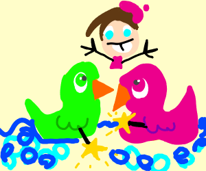 Cosmo and Wanda as ducks