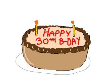 Happy 30th B-Day Cake